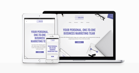 Small business website design from Kay Creative in bury st edmunds